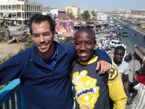 Le blogueur Mauricien Stéphane Huët et le Congolais Gaius Kowene a Dakar en attendant la formation